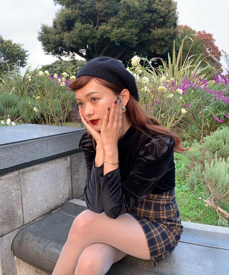 tartan-check mini skirt
