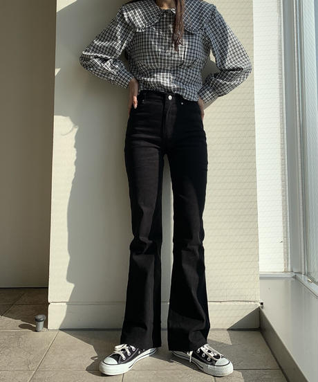 long-legged flare pants
