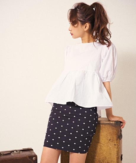 pois dot tight skirt