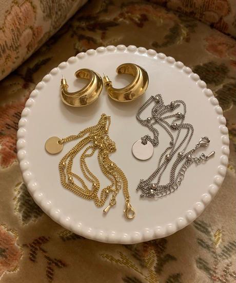 hoop gold earrings〈M00-AC008〉