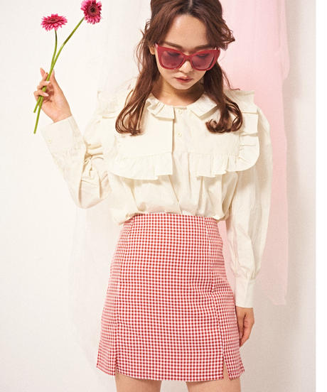 rouge essence gingham skirt
