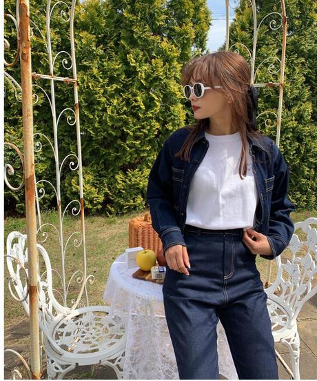 azure denim suit