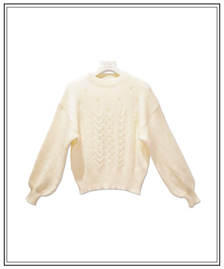 switching cable knit〈M01-K008〉
