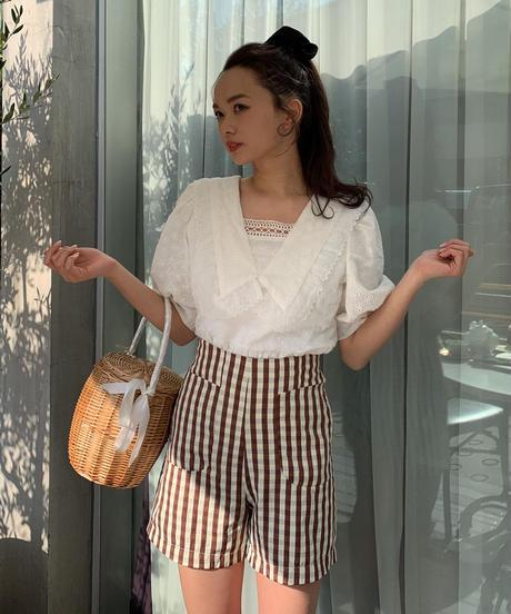 big collar cotton lace tunic