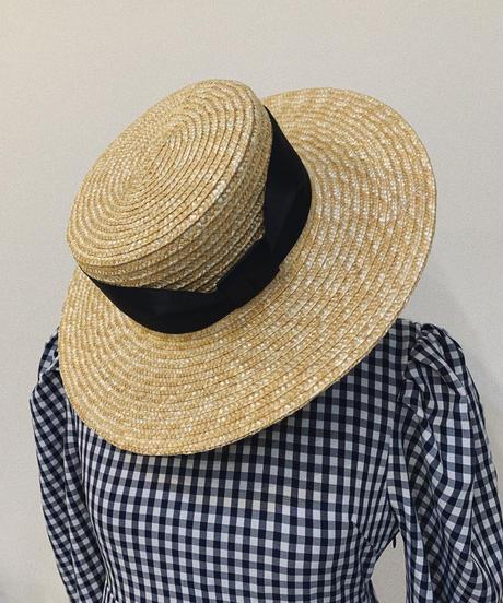 ribbon straw hat