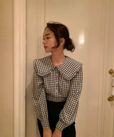 check round collar blouse