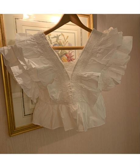 【ViVi雑誌掲載】no sleeve frill blouse〈M00-B022〉