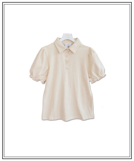 puff sleeve polo t-shirts〈B00-T002〉