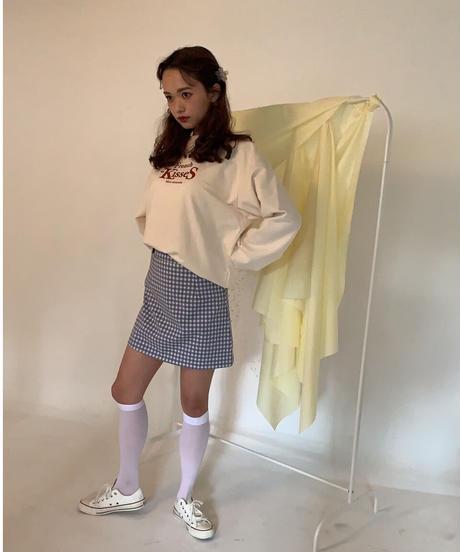 ciel blue gingham skirt