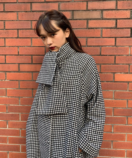 60s french style 2 way coat