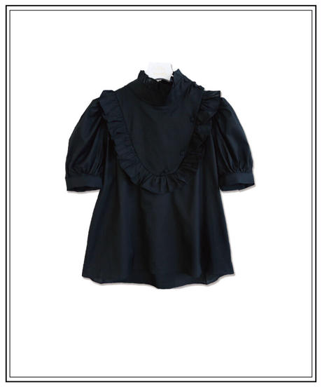 back ribbon waitress blouse〈M00-B020〉