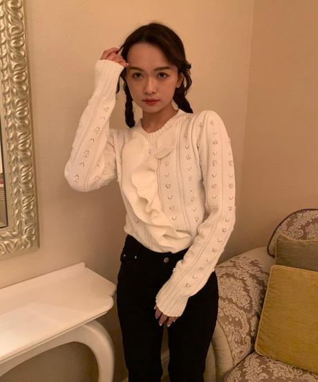 pearl white knit