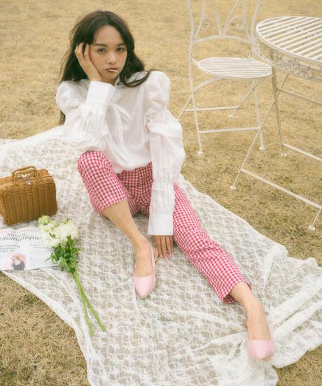 ribbon tie blouse