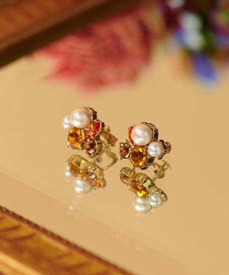 【12.11(Fri)12:00-STOCKS】 MIRION CARAT Pierce /earring(orange)