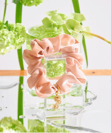 Floral  Scrunchie Small(Pink)