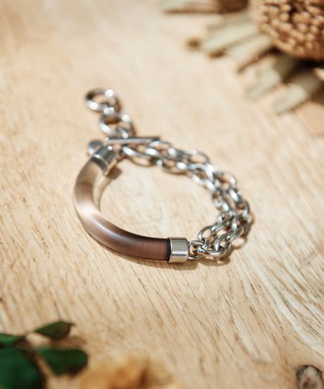 【2021.7.15(Thu)21:00-PRE-ORDER】Clear Gradation Bracelet (thin ver. Gray)