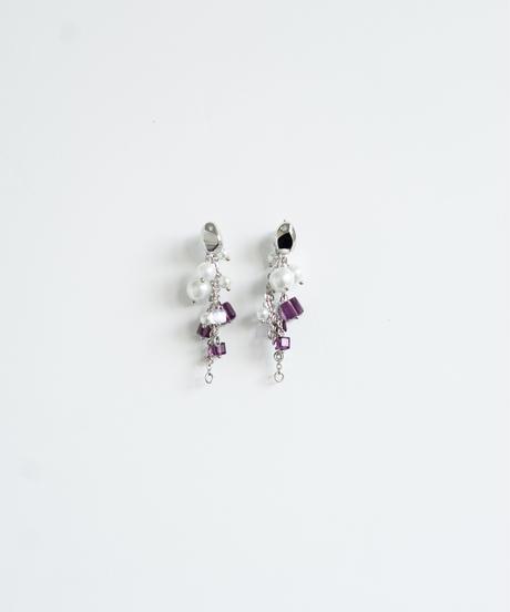 【2021.3.27(sat)21:00-STOCKS】 Shiny Multi Pierce /earring(Silver×purple)