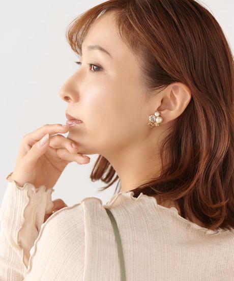 【12.11(Fri)12:00-STOCKS】MIRION CARAT Pierce /earring(Champagne)