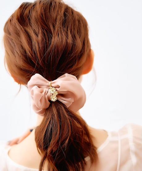 Floral Scrunchie Big(Pink)