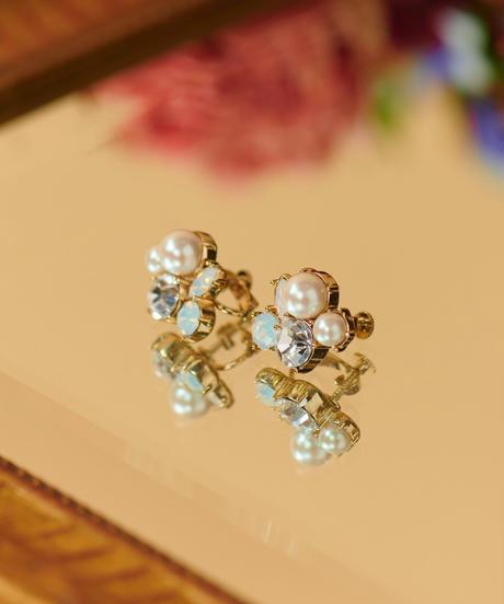 【12.11(Fri)12:00-STOCKS】 MIRION CARAT Pierce /earring(white)