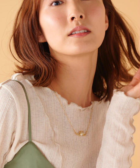 【2021.3.27(sat)21:00-STOCKS】M letter necklace(Gold)