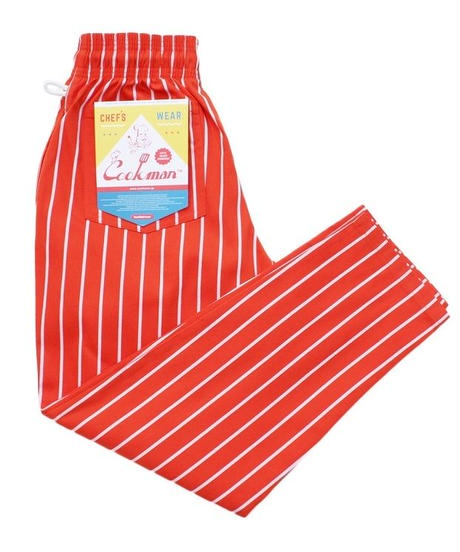 """COOKMAN"" Chef Pants[Pin Stripe/Orange]"