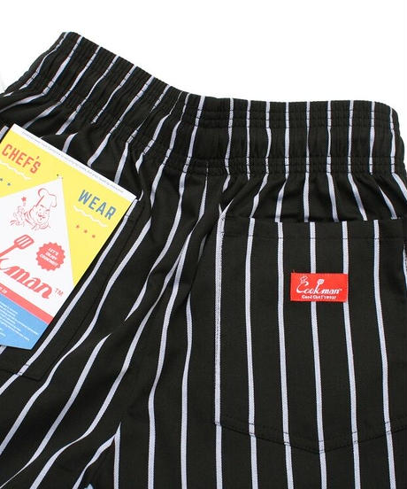 """COOKMAN"" Chef Pants[Pin Stripe/Black]"