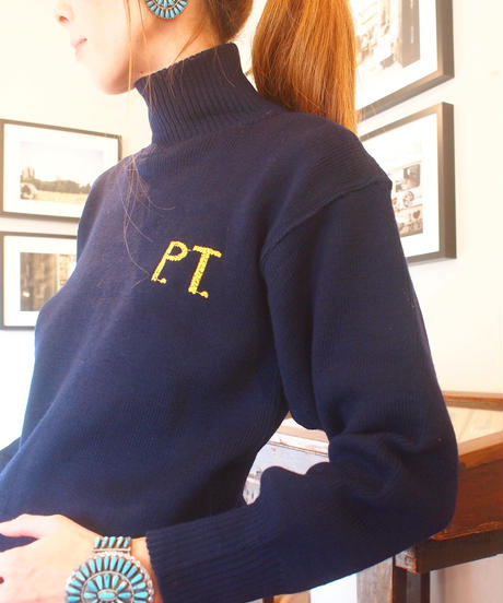 "再入荷!""ITALIAN ARMY""High Neck Sweater(P.T.刺繍)"