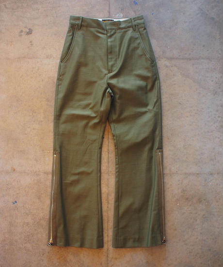 """""""RUMBLE RED""""Military Flare Pants"""