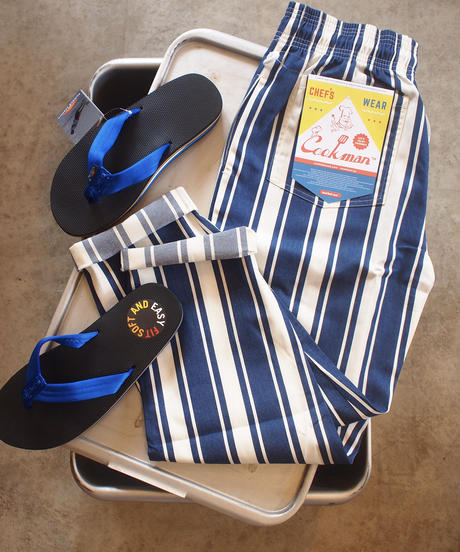 """""""COOKMAN""""Chef Pants[Awning Stripe Navy]"""