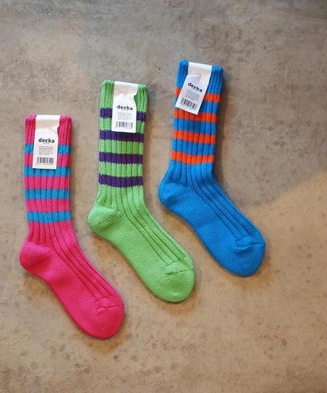decka Quality socks Heavyweight Socks / Stripes / Crazy Color