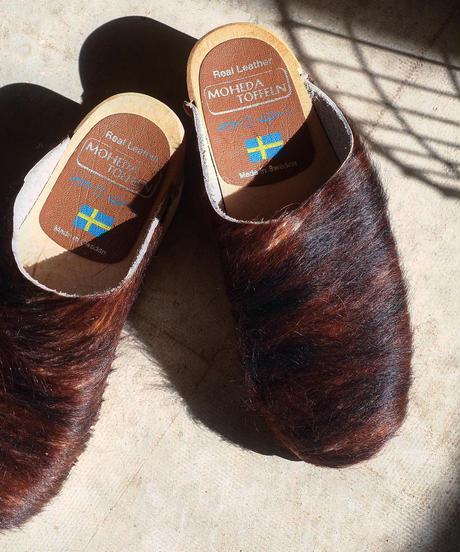 """MOHEDA TOFFELN"" Pony Sabo Sandal(Used)"