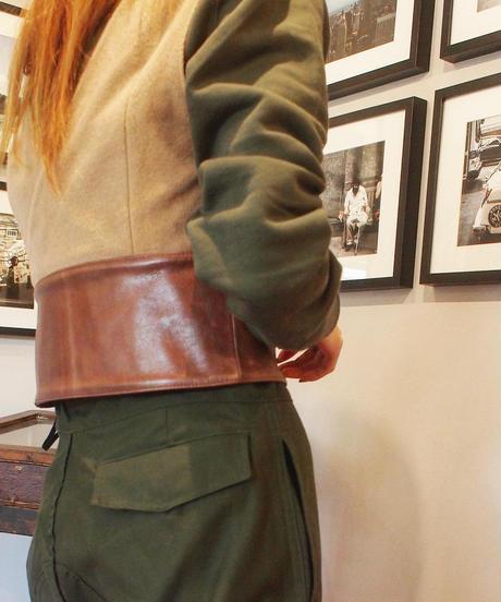 """RUMBLE RED"" Leather Belt Vest"