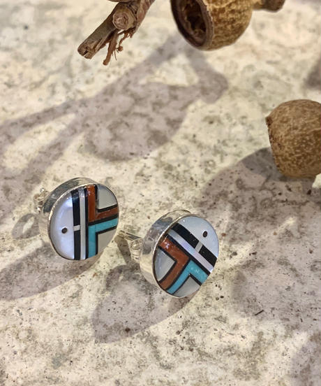 """ZUNI"" Inlay Earring"