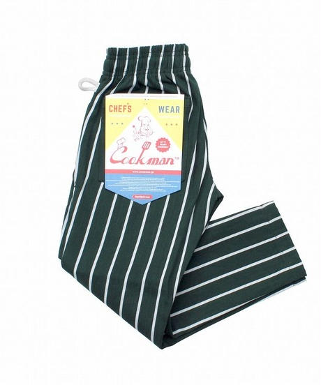 """COOKMAN""Chef Pants[Pin.Stripe/D.Green]150.110"