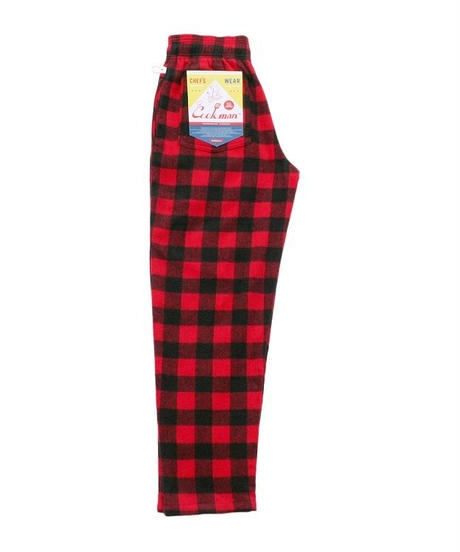 """COOKMAN""Chef Pants[Nel Buffalo Check.Red]"