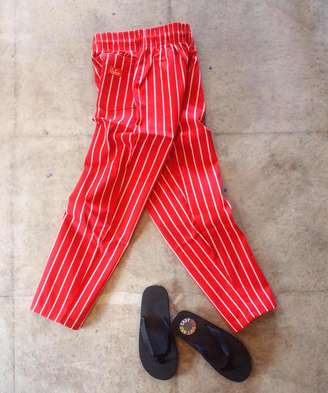 """COOKMAN"" Chef Pants[Pin Strip(RED)]"