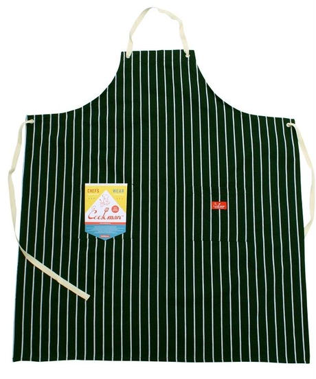 """COOKMAN"" Long Apron [Stripe.D/Green]"