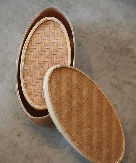 """""""hint hint""""Oval Bamboo Box(3 Size One Set)"""