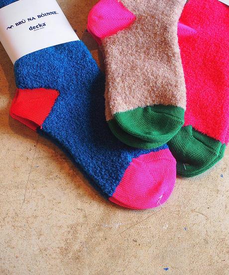 """""""BRU NA BOINN""""×""""decka quality socks""""Alpaca Boucle Socks"""