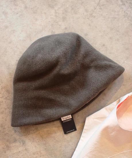 """""""Kopka""""Woollen Clochard Hat[Color:KHAKI]"""
