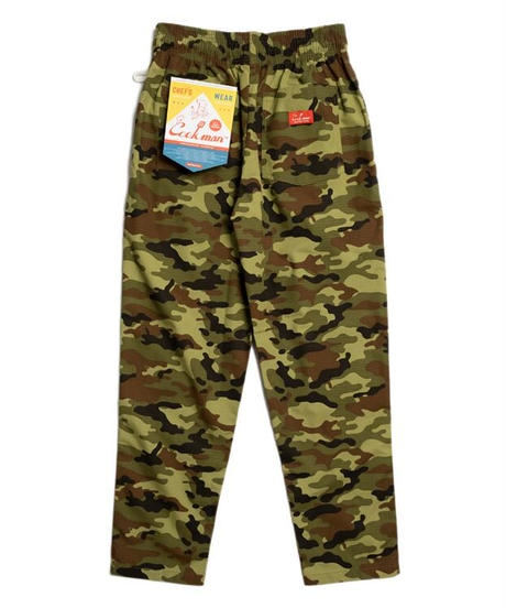 """COOKMAN""Chef Pants「Ripstop」 Woodland Camo Green"