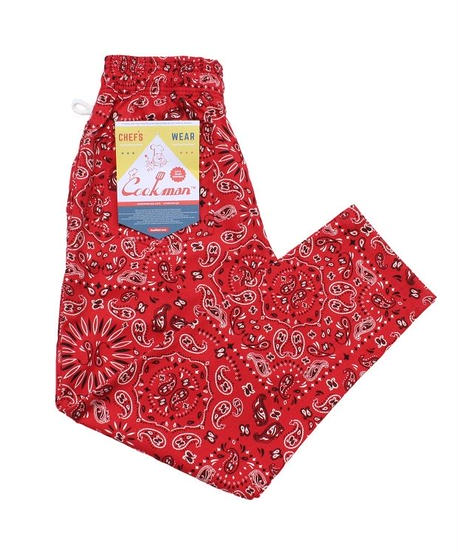 """COOKMAN"" Chef Pants[Paisly.RED]"