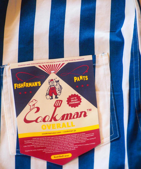 """COOKMAN"" Fisherman's Bib Overall[Stripe/NAVY]"