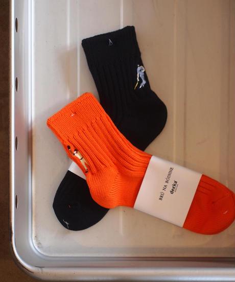"""decka""×""BRU NA BOINNE""Heavyweight Short Socks[GT]"
