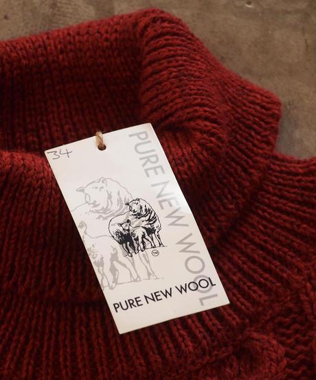 """""""KELLY WOOLLEN MILLS""""Aran Turtle Neck Sweater"""