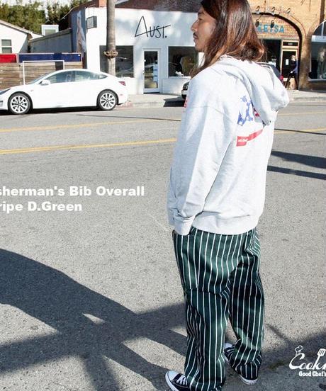 """COOKMAN""Fisherman's Bib Overall 「Dark Green」"