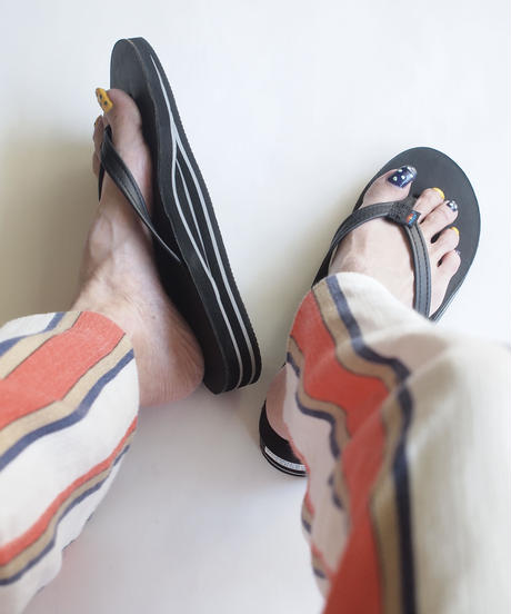 """RAINBOW SANDALS""Double Mid Sole(Narrow Strap)"