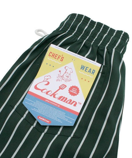 """COOKMAN"" Chef Pants[Pin Stripe/Dk.Green]"