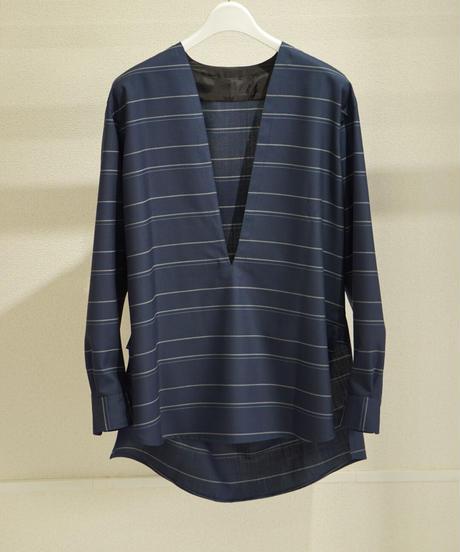 (syoul別注) un/unbient Wool Silk Pola pullover